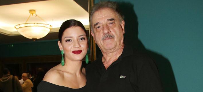 Ο Μιχάλης Μητρούσης με την κόρη του, Μαρίλια(Φωτογραφία: NDPphoto)
