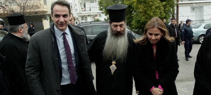 Από την επίσκεψη του κ. Μητσοτάκη στο «Βαφειαδάκειον», Φωτογραφία: Eurokinissi