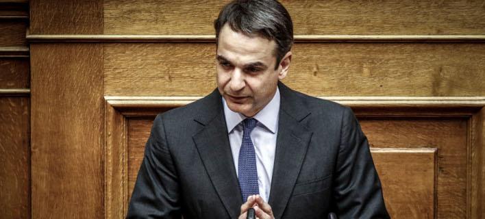 Ο πρόεδρος της ΝΔ, Κυριάκος Μητσοτάκης. Φωτογραφία: Eurokinissi