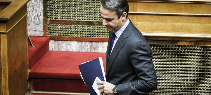 Ο πρόεδρος της ΝΔ Κυριάκος Μητσοτάκης / Φωτογραφία: Eurokinissi