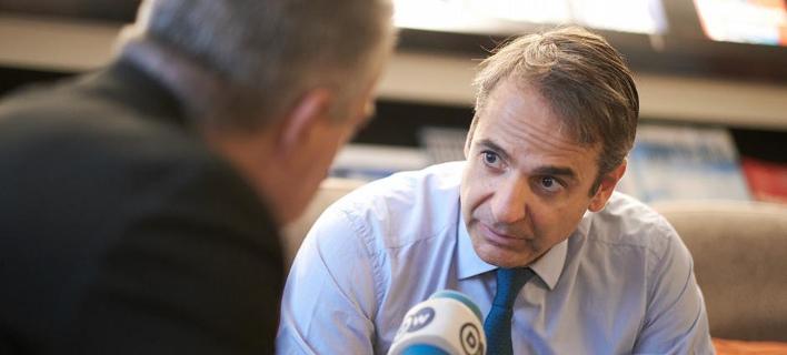 Ο Κυριάκος Μητσοτάκης δίνει συνέντευξη στην Deutsche Welle -Φωτογραφία: DW