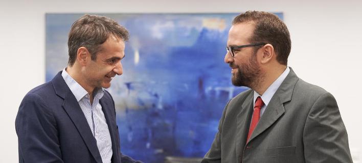Συνάντηση Μητσοτάκη με τον υποψήφιο της ΝΔ στην περιφέρεια Δυτ. Ελλάδος Νεκτάριο Φαρμάκη