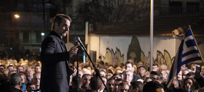 Ο Κυριάκος Μητσοτάκης στα Γιαννιτσά /Φωτογραφία Αρχείου: Intime News