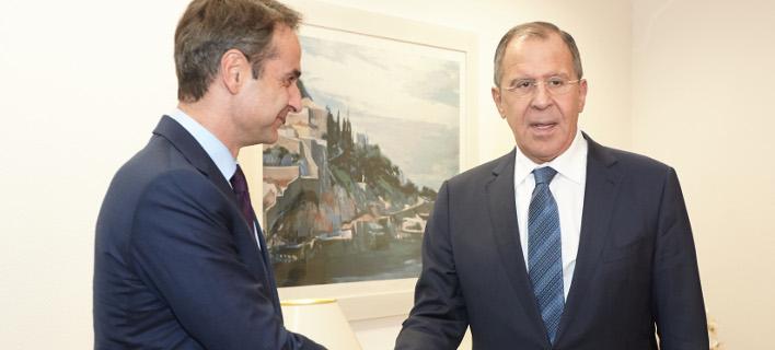 Συνάντηση Μητσοτάκη-Λαβρόφ -Ανησυχεί για τις δηλώσεις Ερντογάν ο πρόεδρος της ΝΔ