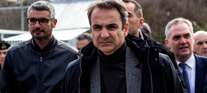 Ο Κυριάκος Μητσοτάκης επισκέφθηκε την Μόρια για τρίτη φορά -Φωτογραφίες: EUROKINISSI/ ΗΛΙΑΣ ΜΑΡΚΟΥ