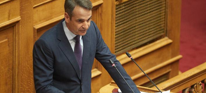 Στο βήμα της Ολομέλειας ο πρόεδρος της ΝΔ / Φωτογραφία: Intimenews/ΠΑΠΑΜΗΤΣΟΣ ΔΗΜΗΤΡΗΣ
