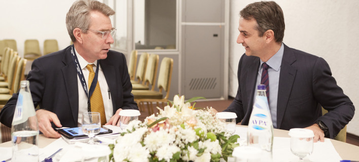 Γιατί ο Αμερικανός πρέσβης συνάντησε τρεις φορές σε δύο μήνες τον Κυριάκο Μητσοτάκη /Φωτογραφία: Intime News