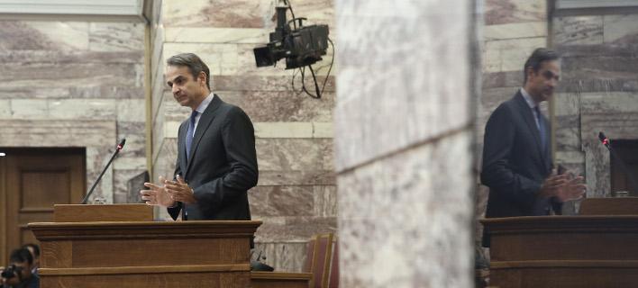 Ο πρόεδρος της ΝΔ Κυριάκος Μητσοτάκης / Φωτογραφία: Initimenews: ΛΙΑΚΟΣ ΓΙΑΝΝΗΣ