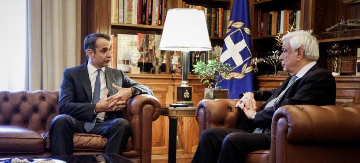 Μητσοτάκης-Παυλόπουλος -Φωτογραφία Eurokinissi