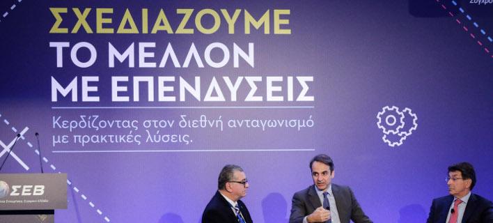 Ο πρόεδρος της Νέας Δημοκρατίας, Κυριάκος Μητσοτάκης στο ΣΕΒ