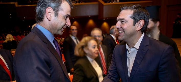 Μητσοτάκης-Τσίπρας /Φωτογραφία Αρχείου: Intime News