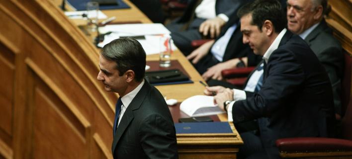 Κυριάκος Μητσοτάκης, Αλέξης Τσίπρας /Φωτογραφία Αρχείου: Sooc