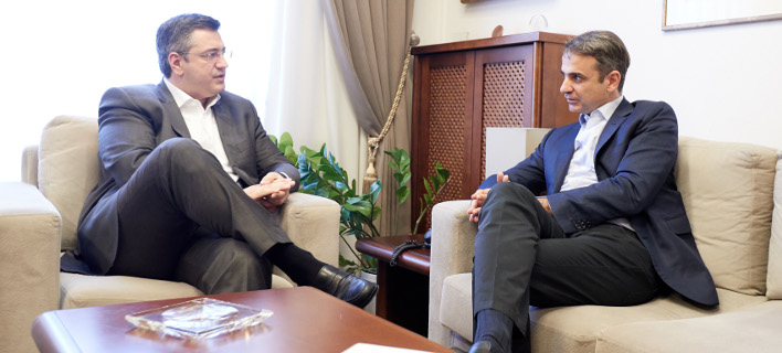 Απ. Τζιτζικώστας & Κυρ. Μητσοτάκης (Φωτογραφία: EUROKINISSI/ΓΡΑΦΕΙΟ ΤΥΠΟΥ ΝΔ/ΔΗΜΗΤΡΗΣ ΠΑΠΑΜΗΤΣΟΣ)