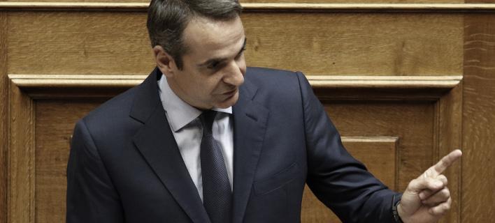 Ο Κυριάκος Μητσοτάκης στη Βουλή / Φωτογραφία: Intimenews