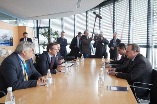 Συναντήσεις Μητσoτάκη στο Στρασβούργο -Ανέλυσε το μεταρρυθμιστικό πρόγραμμα της ΝΔ