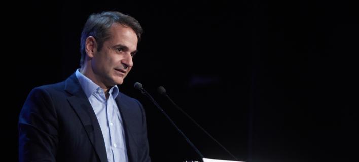 Ο πρόεδρος της ΝΔ Κυριάκος Μητσοτάκης / Φωτογραφία Eurokinissi