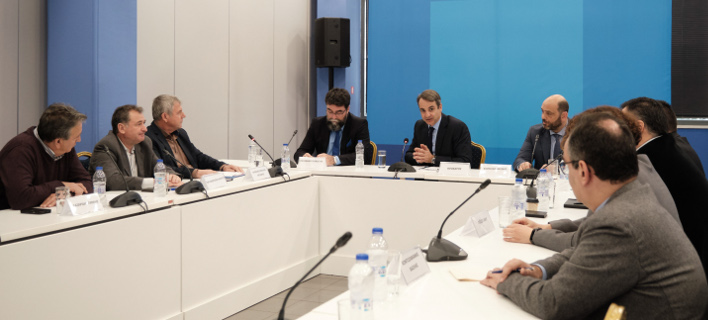 Συνάντηση του Κυριάκου Μητσοτάκη με αντιπροσωπεία της ΠΟΕΔΗΝ (Φωτο: eurokinissi)