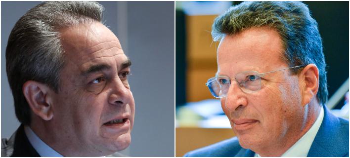 «Σφάζονται» Κ. Μίχαλος (αριστερά) και Γ. Κύρτσος (δεξιά) -Φωτογραφίες: Intimenews
