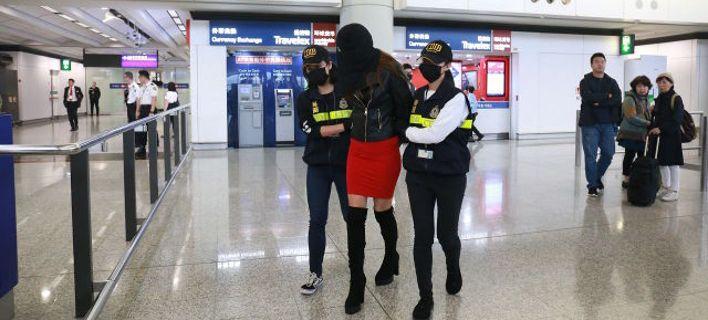 Η στιγμή της σύλληψης της Ειρήνης Μελισσαροπούλου / Φωτογραφία: Facebook