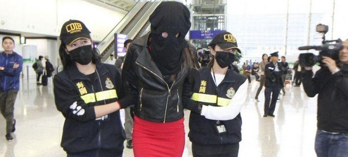 Η Ειρήνη κατά τη σύλληψή της, τον Νοέμβριο του 2017