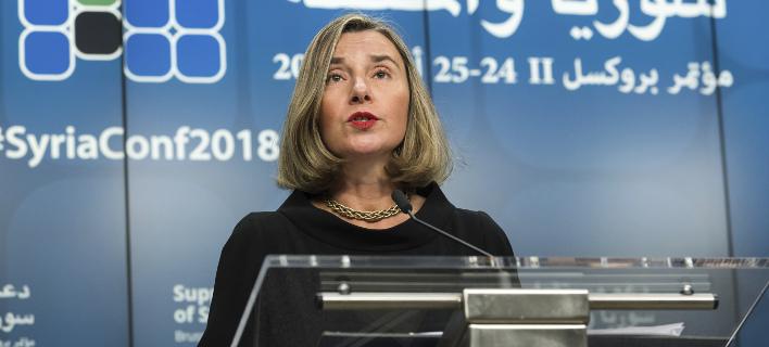 Η Φεντερίκα Μογκερίνι (Φωτογραφία: AP/ Geert Vanden Wijngaert)