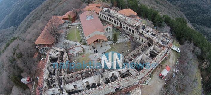 Η επόμενη μέρα της μεγάλης καταστροφής στην Ιερά Μονή Βαρνάκοβας [βίντεο]