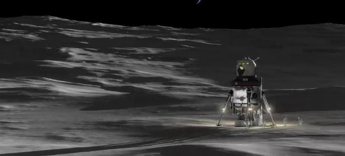 H σεληνάκατος θα μπορεί να φιλοξενεί έως και τέσσερις αστροναύτες (Φωτογραφία: YouTube/Lockheed Martin)