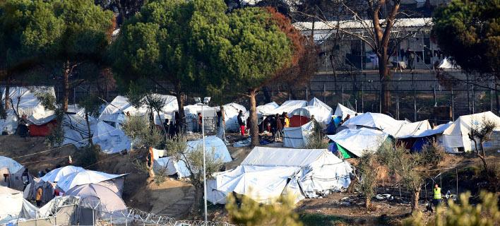 Το κέντρο υποδοχής προσφύγων στη Μόρια της Λέσβου (Φωτογραφία αρχείου: Eurokinissi)