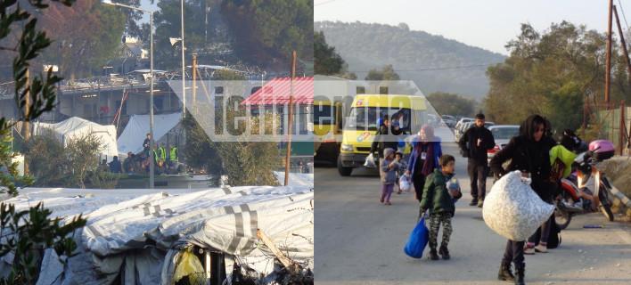Το iefimerida στο hotspot της Μόριας -Χάος, εκρήξεις και 2 νεκροί [εικόνες]