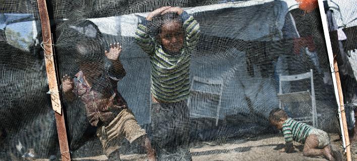 πρόσφυγες στη Μόρια/Φωτογραφία: AP