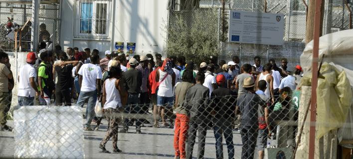 Πρόσφυγες στη Μόρια (Φωτογραφία: EUROKINISSI)