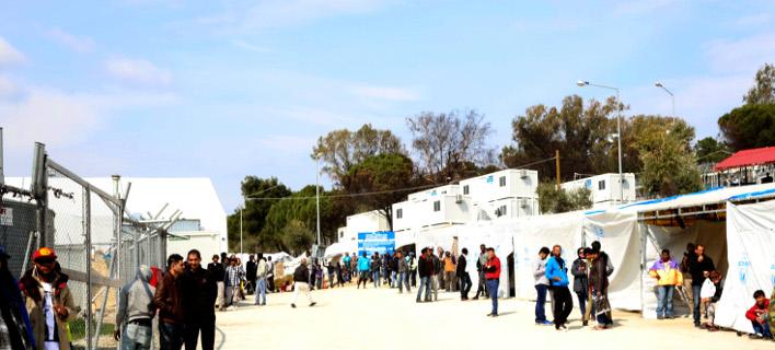κέντρο φιλοξενίας στη Μόρια/Φωτογραφία: Eurokinissi/ΜΑΝΩΛΗΣ ΛΑΓΟΥΤΑΡΗΣ