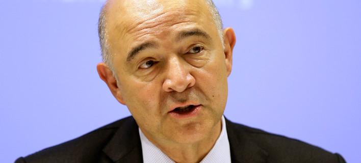 Ο Ευρωπαίος Επίτροπος Πιερ Μοσκοβισί/ Φωτογραφία: Thanassis Stavrakis/AP