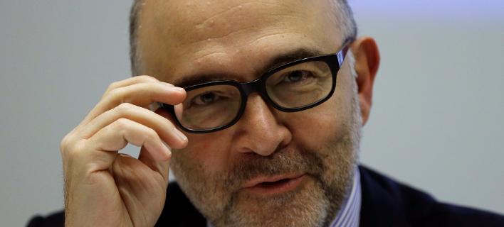 Ο επίτροπος Οικονομικών και Νομισματικών Υποθέσεων της ΕΕ, Πιερ Μοσκοβισί (Φωτογραφία: ΑΡ)