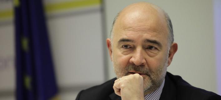 O Ευρωπαίος Επίτροπος, Πιέρ Μοσκοβισί/Φωτογραφία αρχείου: Eurokinissi