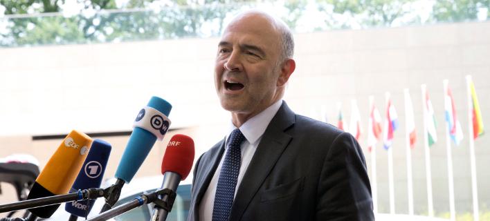 Ο Ευρωπαίος επίτροπος, Πιέρ Μοσκοβισί/Φωτογραφία: AP