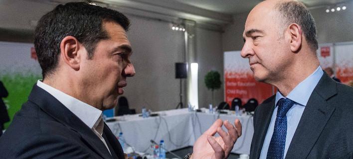 Συνάντηση Τσίπρα-Μοσκοβισί στις 3: Στο τραπέζι τι θα γίνει μετά το Μνημόνιο 3