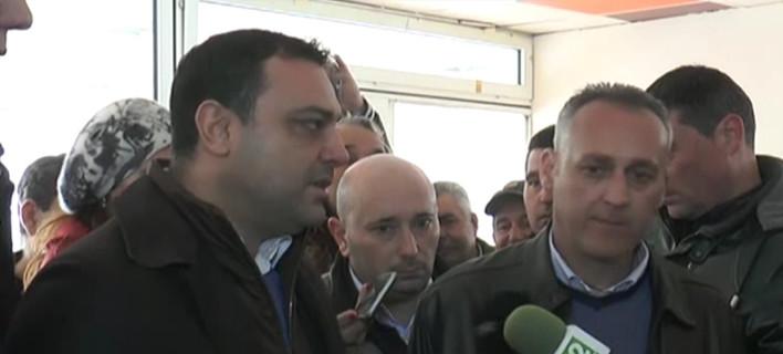 Ο Βούλγαρος υπουργός Μεταφορών στο μπλόκο του Προμαχώνα: Ανοίξτε για τα φορτηγά [εικόνες]