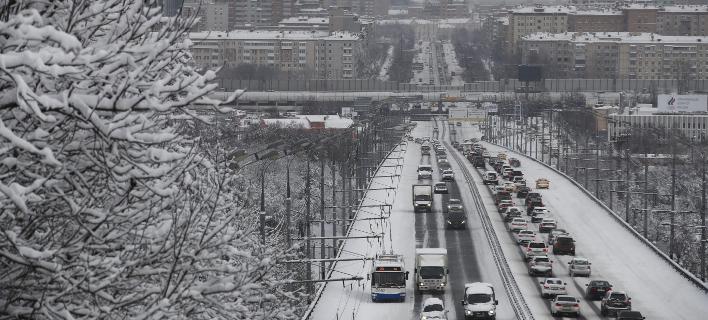 Πολικές θερμοκρασίες στη Μόσχα (Φωτογραφία: AP/ Pavel Golovkin)