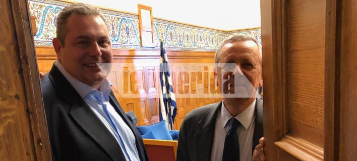 Στη Βουλή έγινε η συνάντηση Πάνου Καμμένου και Τάκη Μπαλτάκου