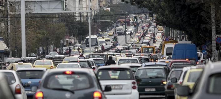Απροσπέλαστοι οι δρόμοι της Αθήνας / EUROKINISSI/ΓΙΑΝΝΗΣ ΠΑΝΑΓΟΠΟΥΛΟΣ