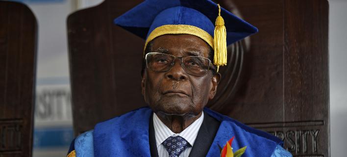 Ο Ρόμπερτ Μουγκάμπε (Φωτογραφία: AP/ Ben Curtis)