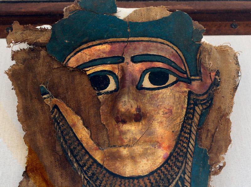 Μία ακόμη μάσκα που βρέθηκε κατά τη διάρκεια των ανασκαφών