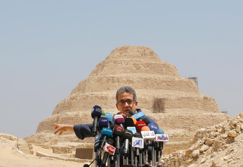 Ο υπουργός Αρχαιοτήτων της Αιγύπτου κ. Χάλιντ Ελ Ανάνι.