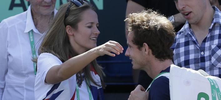 Ο Αντι Μάρεϊ και η σύζυγός του, Κιμ (Φωτογραφία: AP/ Tim Ireland)