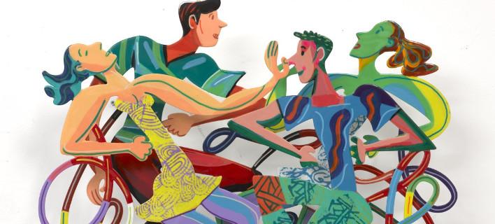 Οι τρισδιάστατες pop art δημιουργίες του Ντέιβιντ Γκερστάιν στα Ματογιάννια στη Μύκονο [εικόνες]