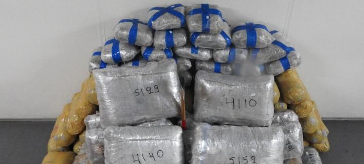 Κατασχέθηκαν μεγάλες ποσότητες ναρκωτικών/ Φωτογραφία: ΕΛ.ΑΣ.