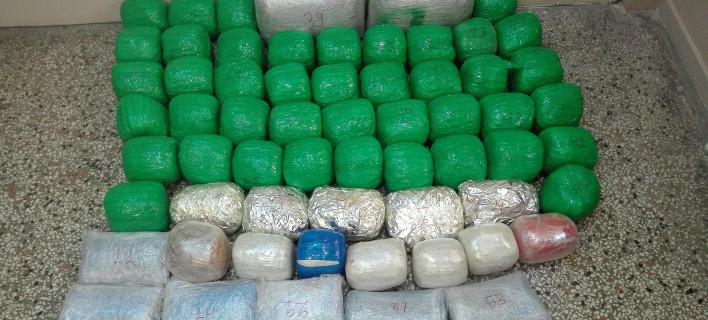 Καστοριά: Μετέφεραν πεζοί μέσα σε σάκους 78 κιλά κάνναβης [εικόνα]