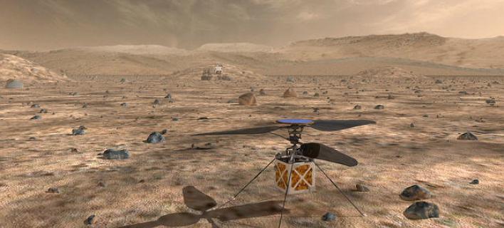Το ελικόπτερο του Αρη θα πετάξει στον κόκκινο πλανήτη το 2020/Φωτογραφία: NASA
