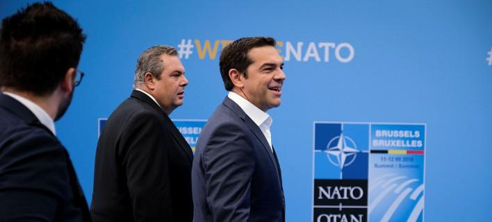Τσίπρας και Καμμένος στη Σύνοδο του ΝΑΤΟ / Φωτογραφία: Eurokiniss